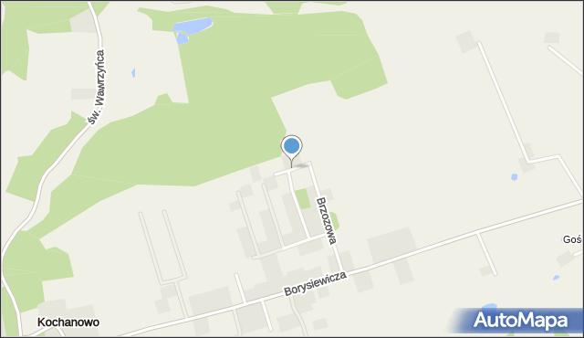 Kochanowo gmina Luzino, Sosnowa, mapa Kochanowo gmina Luzino