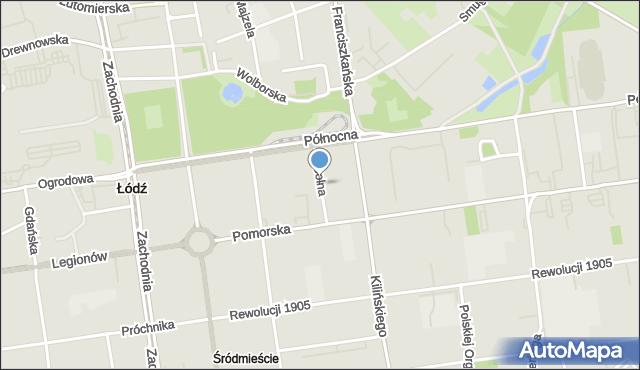 Łódź, Solna, mapa Łodzi