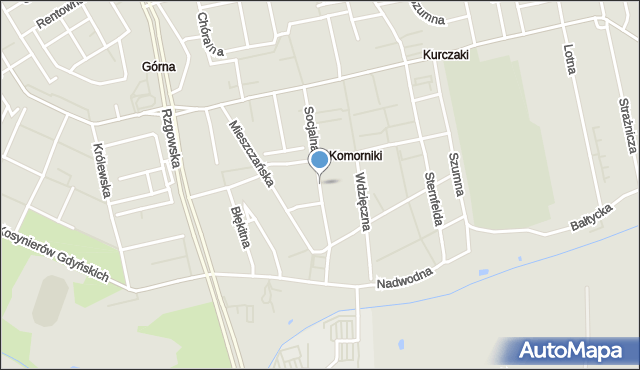 Łódź, Socjalna, mapa Łodzi