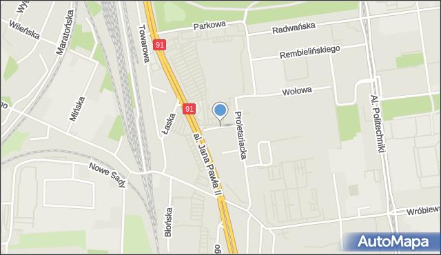 Łódź, Sowia, mapa Łodzi
