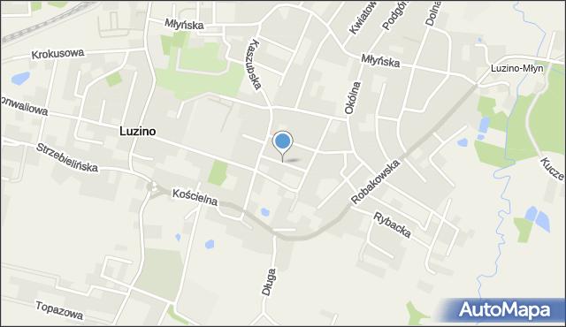 Luzino, Sobieskiego, mapa Luzino