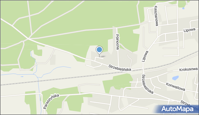 Luzino, Sosnowa, mapa Luzino