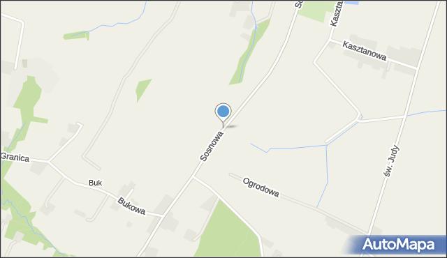 Nidek, Sosnowa, mapa Nidek