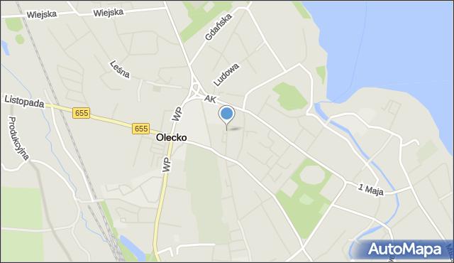 Olecko, Sokola, mapa Olecko