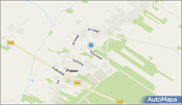 Pniewo gmina Zatory, Sosnowa, mapa Pniewo gmina Zatory