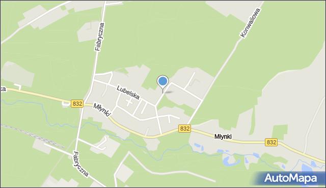 Poniatowa powiat opolski, Sosnowa, mapa Poniatowa powiat opolski