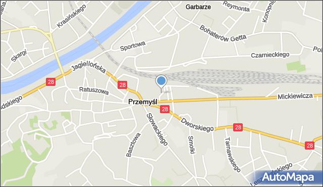Przemyśl, Sowińskiego Józefa, gen., mapa Przemyśla