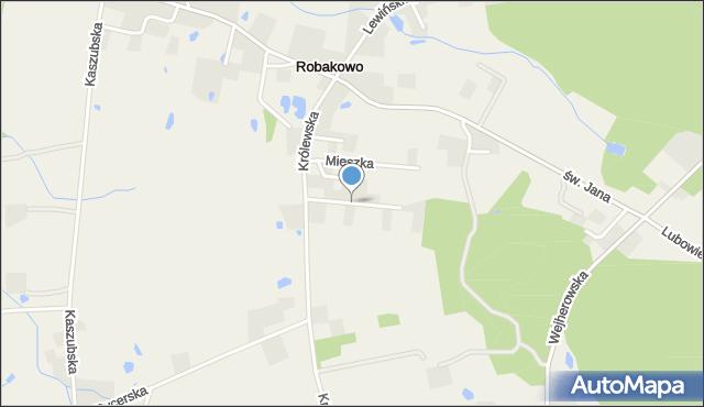 Robakowo gmina Luzino, Sobieskiego, mapa Robakowo gmina Luzino