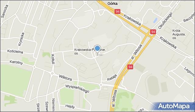 Rzeszów, Solarza Ignacego, mapa Rzeszów