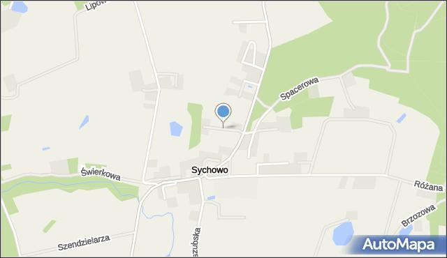 Sychowo, Solidarności, mapa Sychowo
