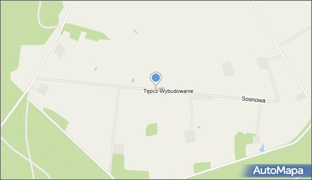 Tępcz, Sosnowa, mapa Tępcz