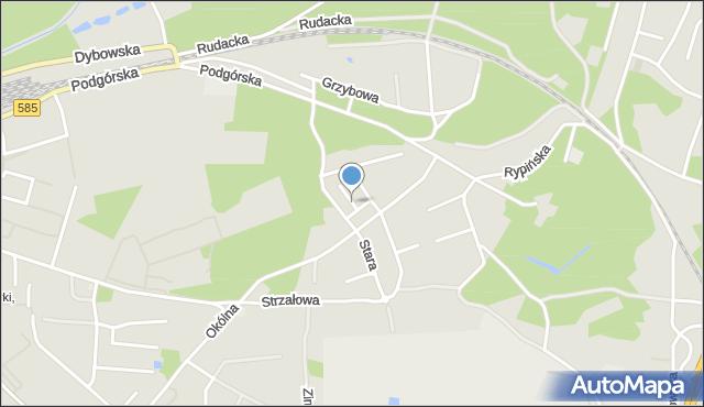 Toruń, Soplicy Jacka, mapa Torunia