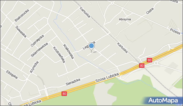 Toruń, Sopocka, mapa Torunia