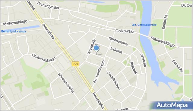 Warszawa, Sobolewska, mapa Warszawy