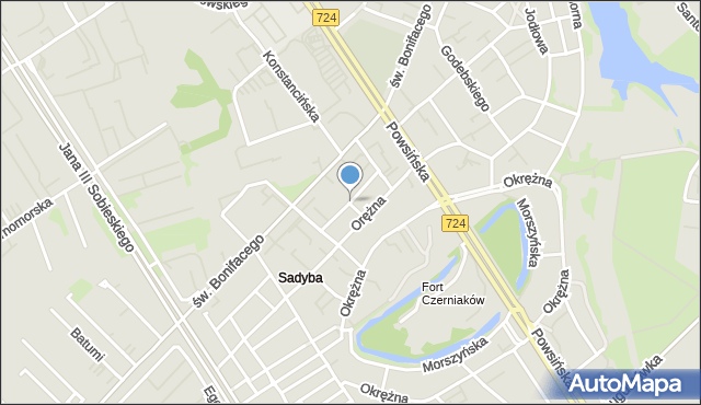 Warszawa, Solankowa, mapa Warszawy