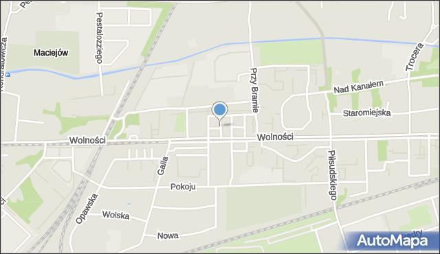 Zabrze, Sokolska, mapa Zabrza