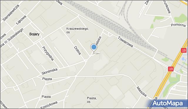 Białystok, Spacerowa, mapa Białegostoku