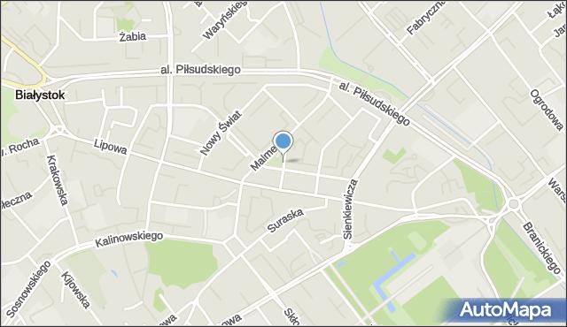 Białystok, Spółdzielcza, mapa Białegostoku