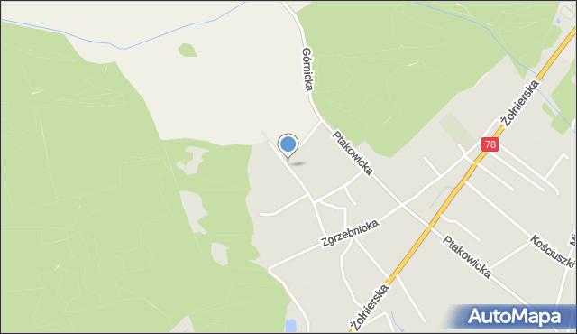 Bytom, Sportowa, mapa Bytomia