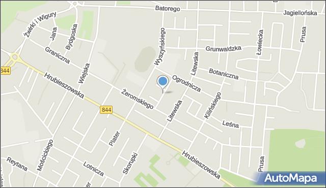 Chełm, Spacerowa, mapa Chełma
