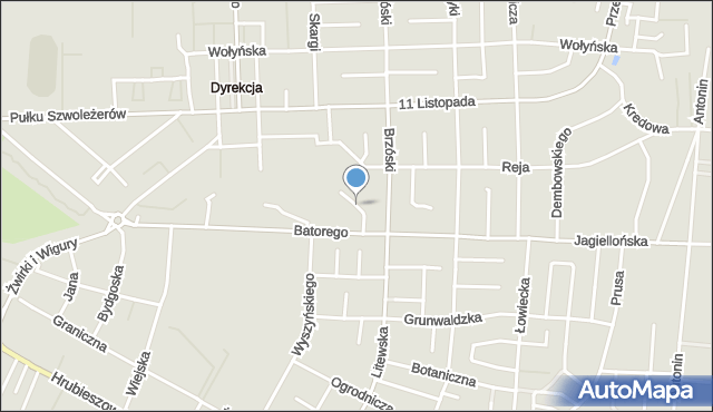 Chełm, Sportowa, mapa Chełma