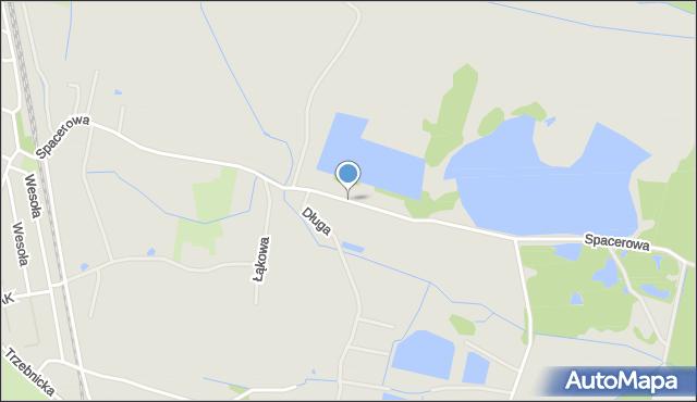 Chocianów, Spacerowa, mapa Chocianów