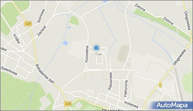 Chocianów, Sportowa, mapa Chocianów