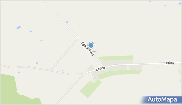 Dąbrówka gmina Kamień Krajeński, Spacerowa, mapa Dąbrówka gmina Kamień Krajeński