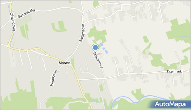 Dobczyce, Spacerowa, mapa Dobczyce