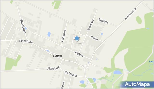 Gałów, Spacerowa, mapa Gałów