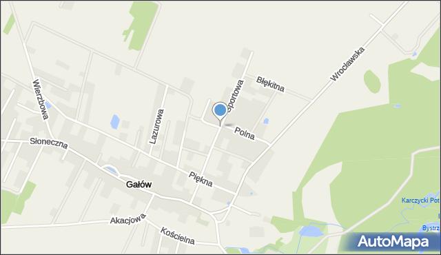 Gałów, Sportowa, mapa Gałów
