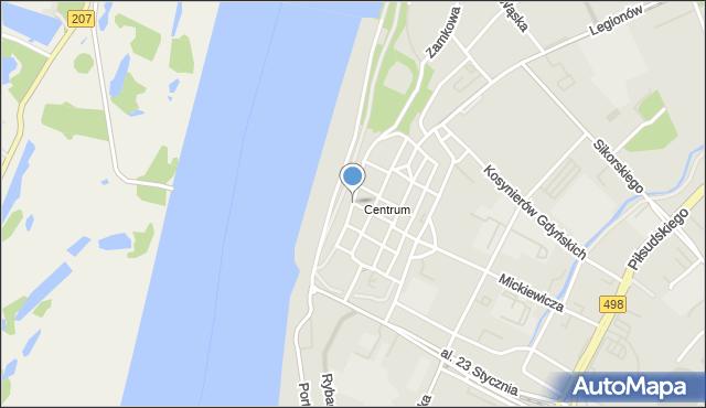 Grudziądz, Spichrzowa, mapa Grudziądza