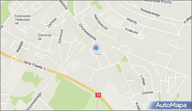 Jaworzno, Sportowa, mapa Jaworzno