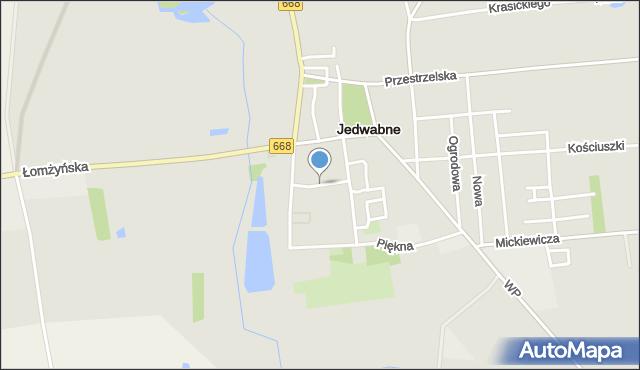 Jedwabne, Spółdzielcza, mapa Jedwabne