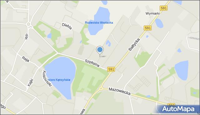 Kętrzyn, Sportowa, mapa Kętrzyn