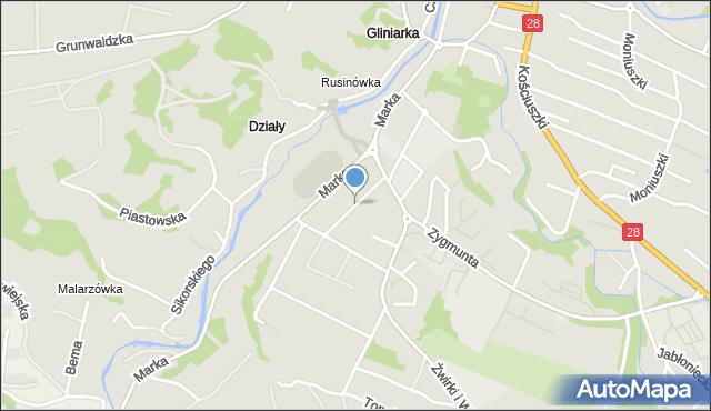 Limanowa, Sportowa, mapa Limanowa
