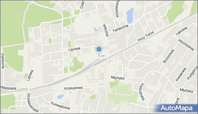 Luzino, Spółdzielców, mapa Luzino