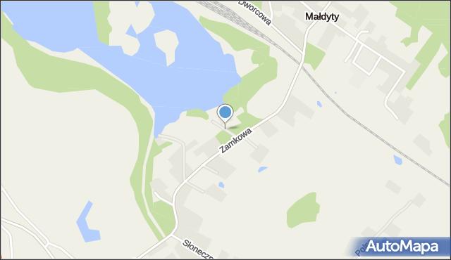 Małdyty, Sportowa, mapa Małdyty