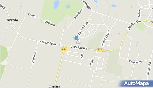 Opole Lubelskie, Spacerowa, mapa Opole Lubelskie