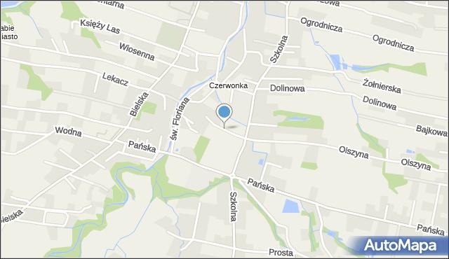 Pisarzowice gmina Wilamowice, Sportowa, mapa Pisarzowice gmina Wilamowice