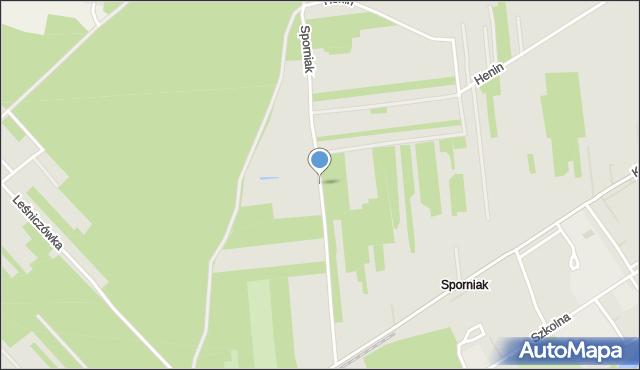 Poniatowa powiat opolski, Sporniak, mapa Poniatowa powiat opolski