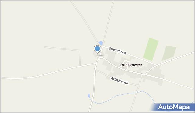 Radakowice, Sportowa, mapa Radakowice