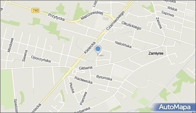 Radom, Sprzeczna, mapa Radomia