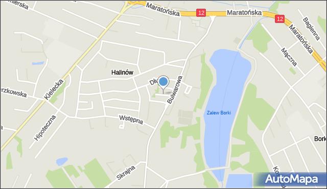 Radom, Spokojna, mapa Radomia
