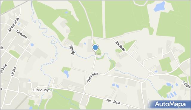 Robakowo gmina Luzino, Spacerowa, mapa Robakowo gmina Luzino