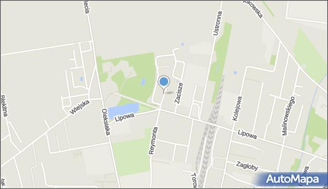 Sokołów Podlaski, Spokojna, mapa Sokołów Podlaski
