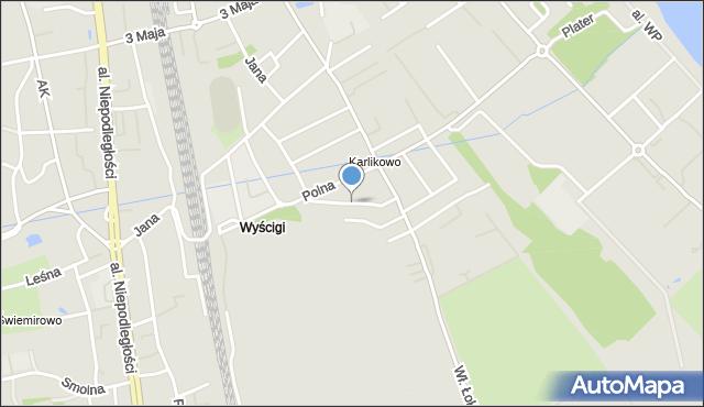 Sopot, Sportowa, mapa Sopotu
