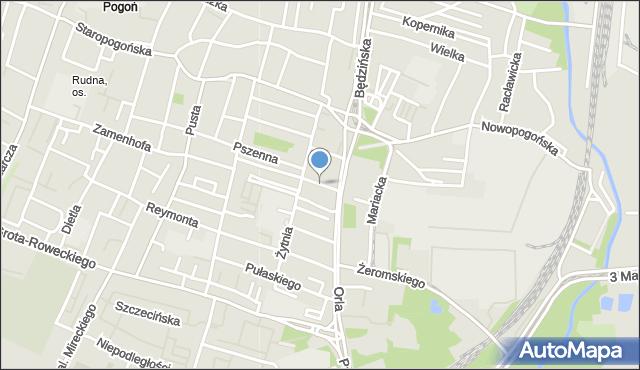 Sosnowiec, Spółdzielcza, mapa Sosnowca