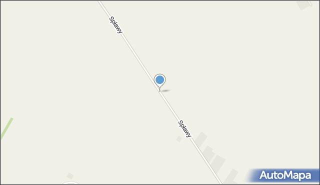 Spławy gmina Wysokie, Spławy, mapa Spławy gmina Wysokie
