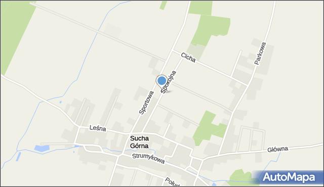 Sucha Górna, Spokojna, mapa Sucha Górna